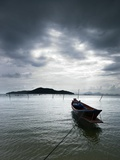 Fishing Boats in Thong Krut Bay in Koh Samui Photographic Print by Gareth Brown