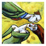 Woman Avoiding a Kiss from a Man Giclee Print by Alberto Ruggieri