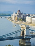 Chain Bridge over Danube River Photographic Print by Rudy Sulgan