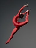Ballet Dancer in Red Leotard Photographie par Erik Isakson