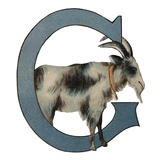 G Is For Goat Giclee Print