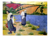 Washerwomen at the Laita River, near Pouldu Giclee Print by Paul Serusier