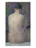 Model from the Back Giclee Print by Georges Seurat