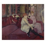 In the Salon at the Rue des Moulins Giclee Print by Henri de Toulouse-Lautrec