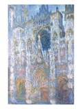 Rouen Cathedral, Blue Harmony, Morning Sunlight Giclee Print by Claude Monet