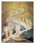Jacob's Ladder Lámina giclée por William Blake