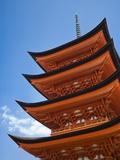 Pagoda at Itsukushima Jinja Shrine Photographic Print by Rudy Sulgan