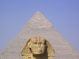 Sphinx and Great Pyramid Photographic Print by Frank Lukasseck