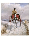 Christmas Deliveries Giclee Print by Henry Alken