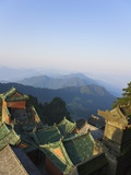 Taoist Temple in Mountain Landscape Photographic Print by Keren Su
