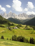 Funes Valley and the Dolomites Photographic Print by José Fuste Raga