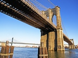 Brooklyn and Manhattan Bridges Photographic Print by Alan Schein