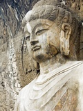 Colossal Buddha Sculpture at Fengxian Temple of Longmen Grottoes Photographic Print by Xiaoyang Liu