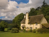 Thatched Roof House near Selworthy, Somerset Photographic Print by Bob Krist