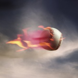 Fast Baseball Photographic Print