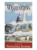 Washington, Go By Train Giclee Print
