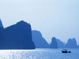 Boats in Halong Bay Photographic Print by Steven Vidler