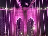 Brooklyn Bridge Lit Purple Photographic Print by Alan Schein