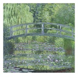 The Waterlily Pond: Green Harmony Reproduction proc&#233;d&#233; gicl&#233;e par Claude Monet