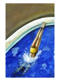 Diving In Giclee Print by Alberto Ruggieri