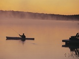 Fly-fishing in Lake Muskoka Photographic Print by Henry Georgi