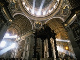 Shafts of Light Inside St. Peter&#39;s Basilica Photographic Print by Kazuyoshi Nomachi
