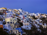 Terraced Houses in Oia Photographic Print by Danny Lehman