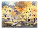 Golden Autumn Premium Giclee Print by LaVere Hutchings