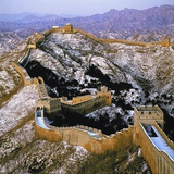 The Great Wall at Jinshanling in Winter Fotoprint van Li Shao Bai