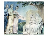 Job Accepting Charity from The Book of Job Giclee Print by William Blake