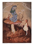 Illustration of Alice and the Caterpillar by Milo Winter Giclee Print