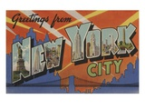 Greetings from New York City Giclee Print