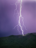 Lightning Strike near Tucson Photographic Print