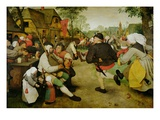 Peasant Dance Giclee Print by Pieter Bruegel the Elder