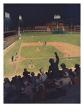 Illustration of First Major League Game Played Under Floodlights by H.M. Molt-Smith Giclee-trykk