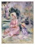 Madame Renoir and Her Son Pierre Reproduction procédé giclée par Pierre-Auguste Renoir