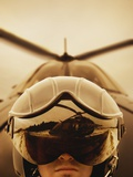 Helicopter Pilot Photographic Print by Bruno Ehrs