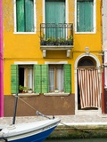 Colorful House on Burano Island Photographic Print