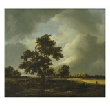 Landscape with Shepherds and Peasants Giclée-Druck von Jacob Van Ruysdael
