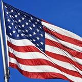US Flag Fotografie-Druck von Nathan Griffith