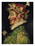 Spring, from a Series of the Four Seasons, Commissioned by Emperor Maximilian II (1527-76) 1573, Giclee Print