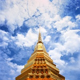 Detail of Wat Phra Kaeo at Grand Palace Photographic Print by So Hing-Keung