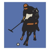 Person Playing Polo Giclee Print