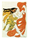 Costume Design for a Bacchante by Leon Bakst in Narcisse Giclee Print by  Tcherepnin
