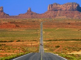 Highway Leading to Monument Valley Photographic Print by Jean-pierre Lescourret