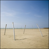 Bent Poles on the Beach Fotodruck von Jim Vecchi