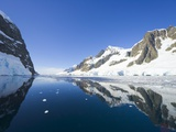 Coastal Mountains Bordering Gerlache Strait Photographic Print by John Eastcott & Yva Momatiuk