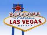 Las Vegas Welcome Road Sign Photographic Print by  Beathan