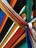 Ribbons Tied to Boat Prow for Good Luck Photographic Print by Jeremy Horner