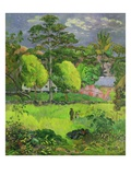 Paysage Reproduction procédé giclée par Paul Gauguin